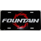 Fountain Aluminum License Plate